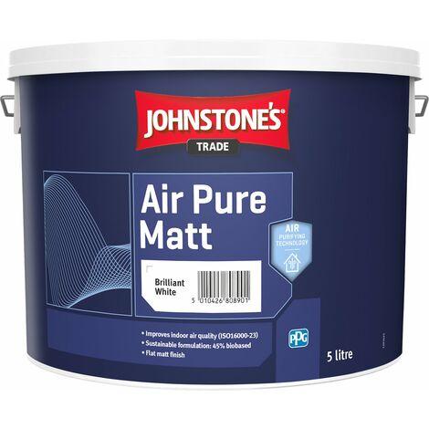 Johnstone's Trade Air Pure Matt Emulsion - Pure Brilliant White - 5l