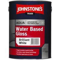 Johnstones Trade Aqua Gloss Brilliant White - 5 Litres