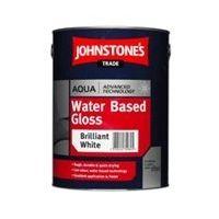 Johnstones Trade Aqua Water Based Gloss Brilliant White - 2.5 Litres