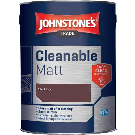 Johnstone's Trade Cleanable Matt - Black Lily - 5ltr