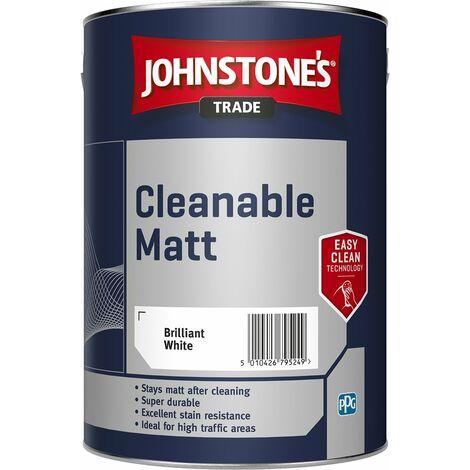 """main image of """"Johnstone's Trade Cleanable Matt Emulsion - Pure Brilliant White - 5l"""""""