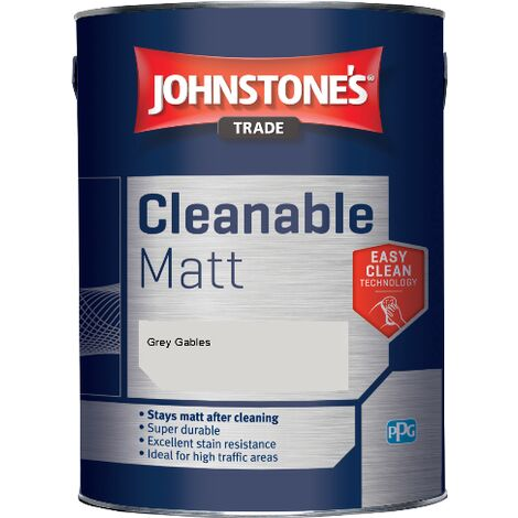 Johnstone's Trade Cleanable Matt - Grey Gables - 5ltr