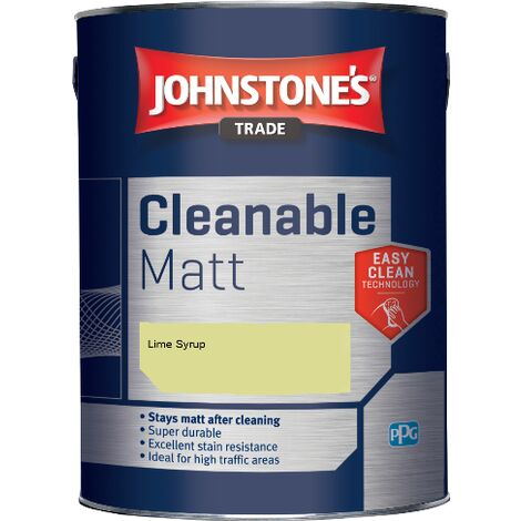 Johnstone's Trade Cleanable Matt - Lime Syrup - 5ltr
