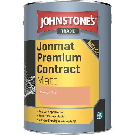 "main image of ""Johnstone's Trade Jonmat Premium Contract Matt - Orange Clay - 5ltr"""