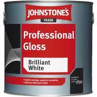 Johnstones Trade Professional Gloss Brilliant White - 2.5 Litres