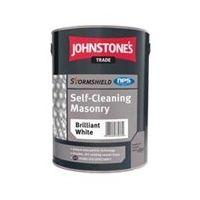 Johnstones Trade Stormshield Self Cleaning Masonry Brilliant White - 5 Litres