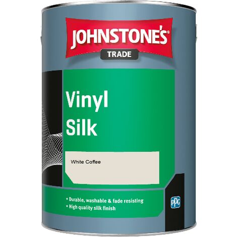 Johnstone's Trade Vinyl Silk - White Coffee - 1ltr
