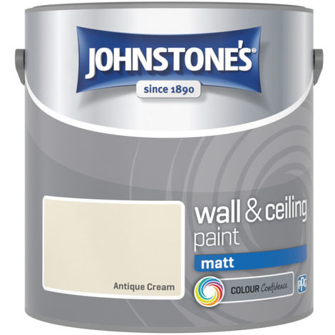 Johnstones Vinyl Matt Emulsion Antique Cream 2.5 Litre