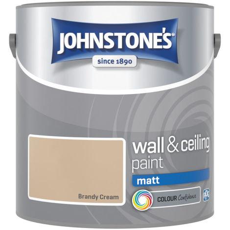 Johnstones Vinyl Matt Emulsion Brandy Cream 2.5 Litre