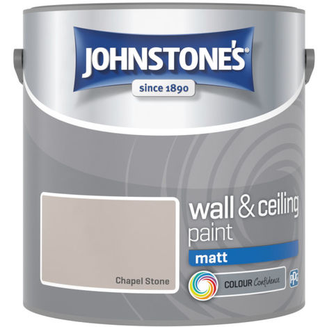 Johnstones Vinyl Matt Emulsion Chapel Stone 2.5 Litre