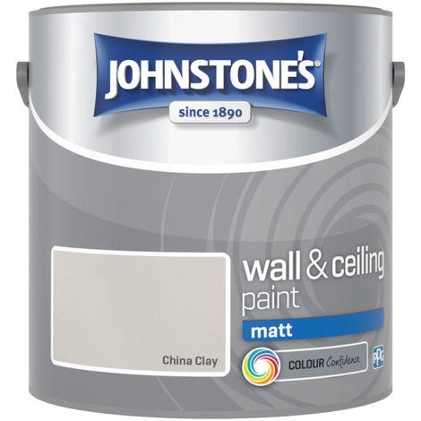 Johnstones Vinyl Matt Emulsion China Clay 2.5 Litre
