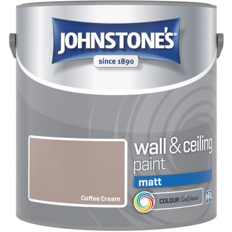 Johnstones Vinyl Matt Emulsion Coffee Cream 2.5 Litre