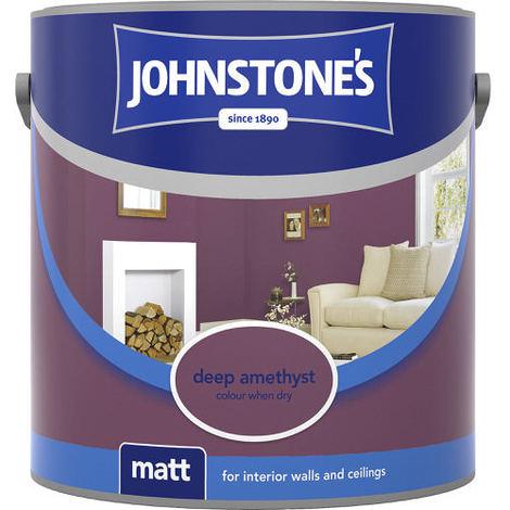 Johnstones Vinyl Matt Emulsion Deep Amethyst 2.5 Litre