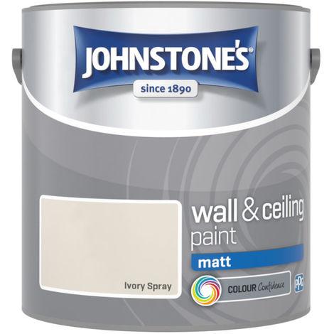 Johnstones Vinyl Matt Emulsion Ivory Spray 2.5 Litre