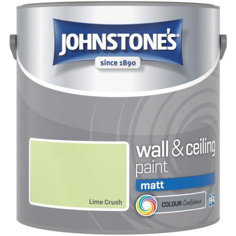 Johnstones Vinyl Matt Emulsion Lime Crush 2.5 Litre