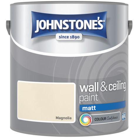 Johnstones Vinyl Matt Emulsion Magnolia 2.5 Litre