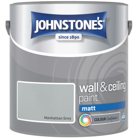 Johnstones Vinyl Matt Emulsion Manhattan Grey 2.5 Litre