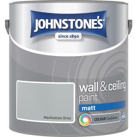 Johnstones Vinyl Matt Emulsion Manhattan Grey