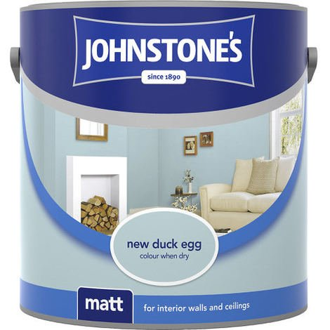 Johnstones Vinyl Matt Emulsion New Duck Egg 2.5 Litre