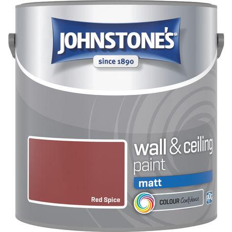 Johnstones Vinyl Matt Emulsion Red Spice 2.5 Litre