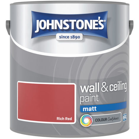 Johnstones Vinyl Matt Emulsion Rich Red 2.5 Litre