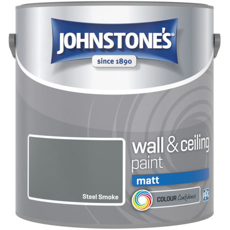 Johnstones Vinyl Matt Emulsion Steel Smoke 2.5 Litre