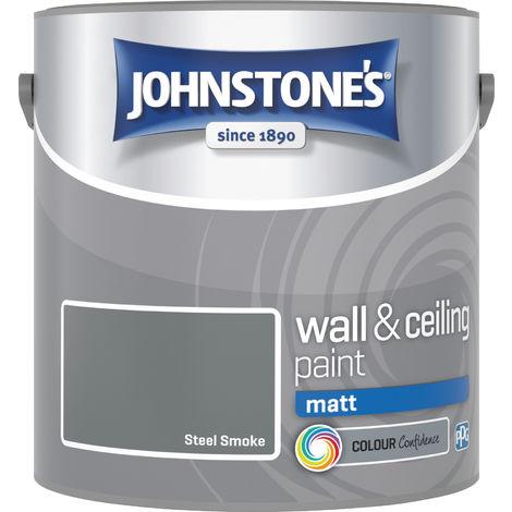 Johnstones Vinyl Matt Emulsion Steel Smoke