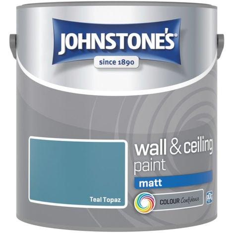 Johnstones Vinyl Matt Emulsion Teal Topaz 2.5 Litre