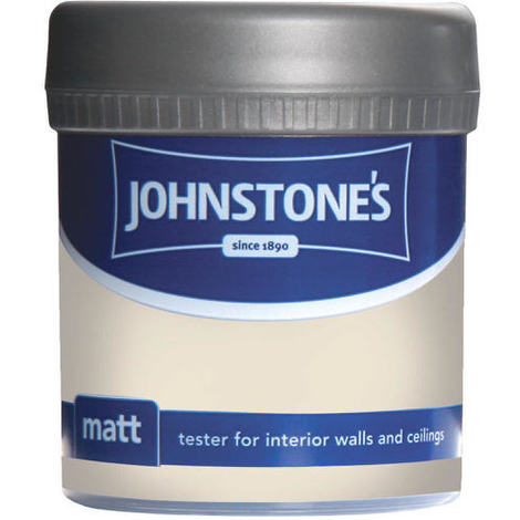 Johnstones Vinyl Matt Emulsion Tester Pot Antique Cream 75ml