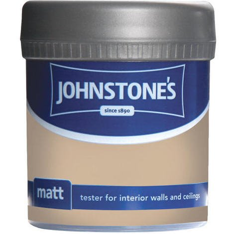 Johnstones Vinyl Matt Emulsion Tester Pot Brandy Cream 75ml