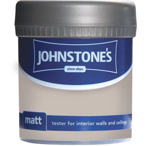 Johnstones Vinyl Matt Emulsion Tester Pot Chapel Stone 75ml