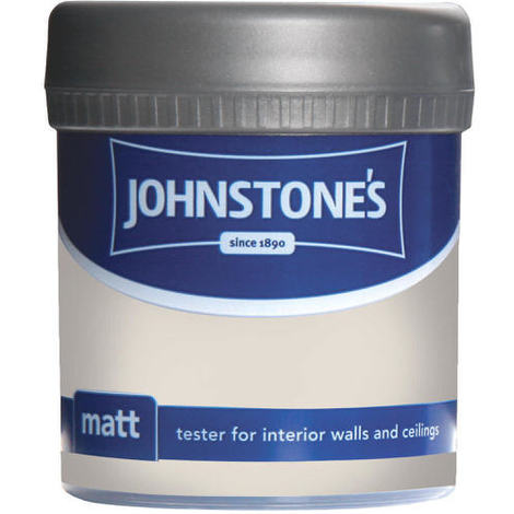 Johnstones Vinyl Matt Emulsion Tester Pot Ivory Spray 75ml