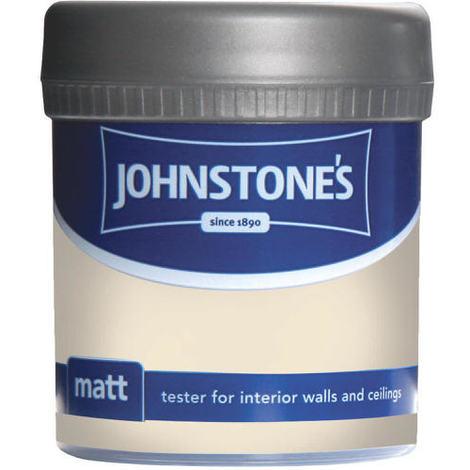 Johnstones Vinyl Matt Emulsion Tester Pot Magnolia 75ml