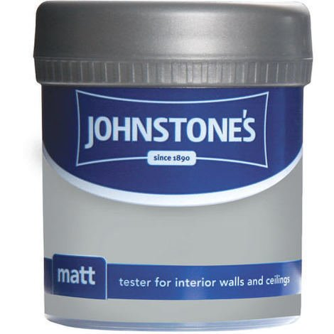 Johnstones Vinyl Matt Emulsion Tester Pot Manhattan Grey 75ml