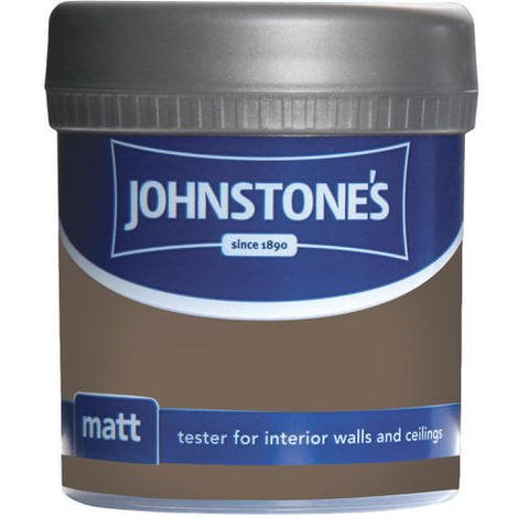 Johnstones Vinyl Matt Emulsion Tester Pot Mocha 75ml