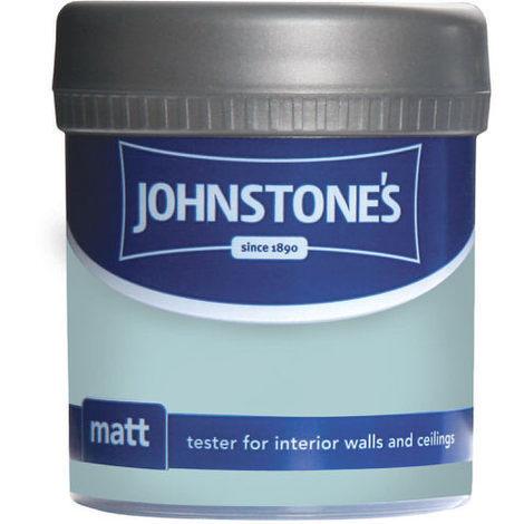 Johnstones Vinyl Matt Emulsion Tester Pot New Duck Egg 75ml