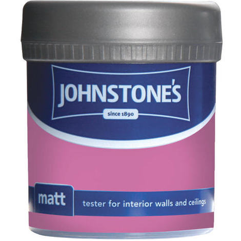 Johnstones Vinyl Matt Emulsion Tester Pot Passion Pink 75ml