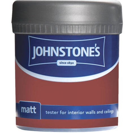 Johnstones Vinyl Matt Emulsion Tester Pot Red Spice 75ml