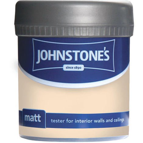 Johnstones Vinyl Matt Emulsion Tester Pot Soft Cream 75ml