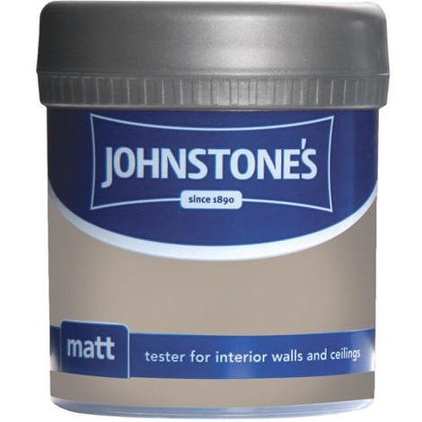Johnstones Vinyl Matt Emulsion Tester Pot Toasted Beige 75ml