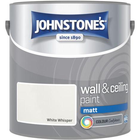 Johnstones Vinyl Matt Emulsion White Whisper 2.5 Litre
