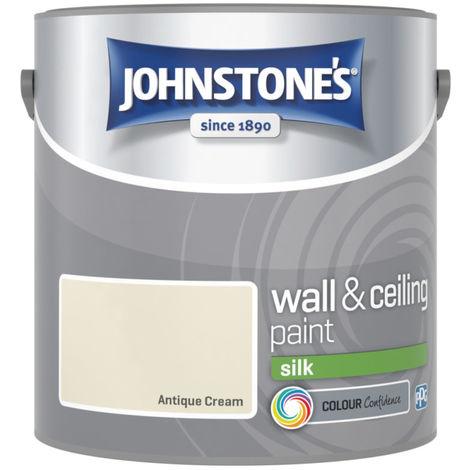 Johnstones Vinyl Silk Emulsion Antique Cream 2.5 Litre