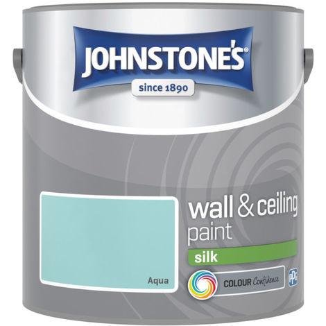"main image of ""Johnstones Vinyl Silk Emulsion Aqua 2.5 Litre"""