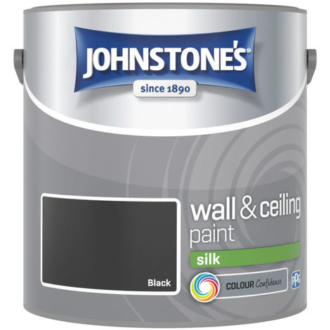 Johnstones Vinyl Silk Emulsion Black 2.5 Litre