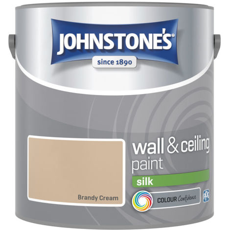 Johnstones Vinyl Silk Emulsion Brandy Cream 2.5 Litre