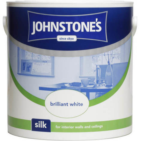 Johnstones Vinyl Silk Emulsion Brilliant White 2.5 Litre