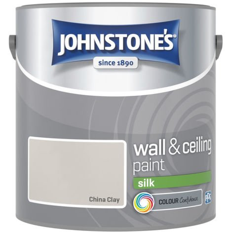 Johnstones Vinyl Silk Emulsion China Clay 2.5 Litre