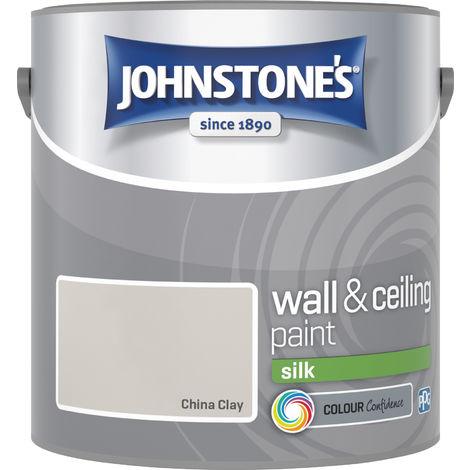 Johnstones Vinyl Silk Emulsion China Clay 2.5 Litre