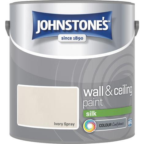 Johnstones Vinyl Silk Emulsion Ivory Spray 2.5 Litre