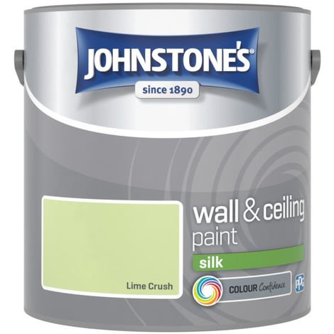 Johnstones Vinyl Silk Emulsion Lime Crush 2.5 Litre